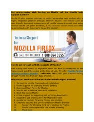 Mozilla Help support Phone Number 1-888-664-3555 for any email help