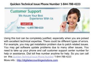 Quicken Customer Care  Number 1-844-788-422