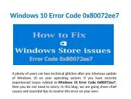 Fix Windows 10 Error Code 0x80072ee7,Call 1-888-909-0535 Support Number
