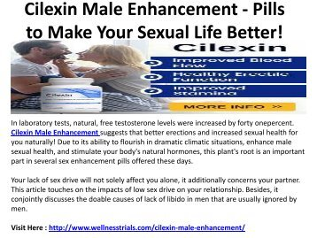 Cilexin Male Enhancement - Increase Your Confidence Level