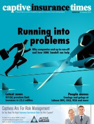 Captive Insurance Times issue 139