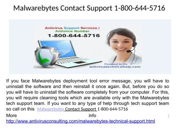Malwarebytes Support Phone Number 1-800-644-5716
