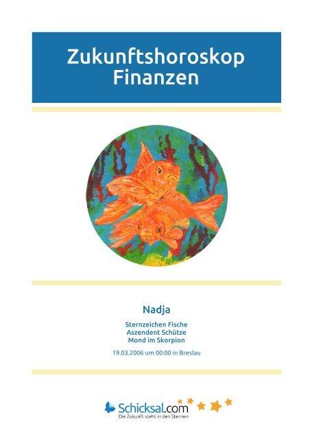 Fische Zukunftshoroskop Finanzen