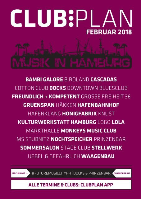 Clubplan Hamburg - Februar 2018