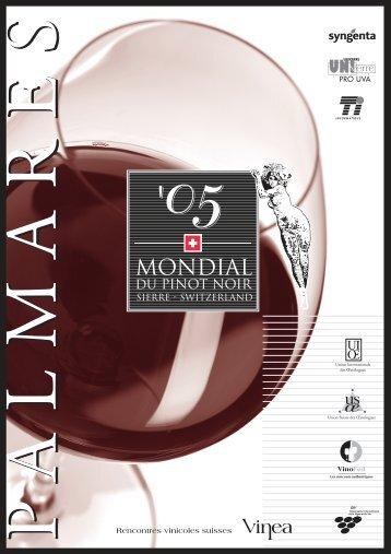Listes du Jury - Mondial des Pinots