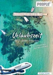 Urlaubszeit 2018 - Ab St.Gallen-Altenrhein zu Ihrer Wunschdestination