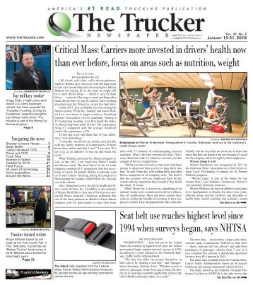 The Trucker Newspaper - January 15, 2018