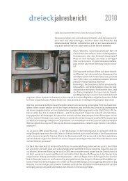 2010 dreieckjahresbericht - Genossenschaft Dreieck