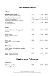 Flaschenweine Federweiss - Best of Swiss Gastro