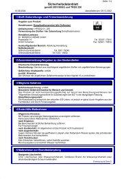 Sicherheitsdatenblatt - CAMENA Vital