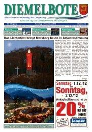 Sonntag, Verkaufsoffen von 13 - 18 Uhr - diemelbote.de
