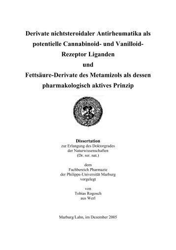 Derivate nichtsteroidaler Antirheumatika als potentielle Cannabinoid ...