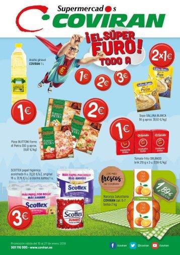Supermercados Covirán ofertas del 16 al 27 de Enero 2018