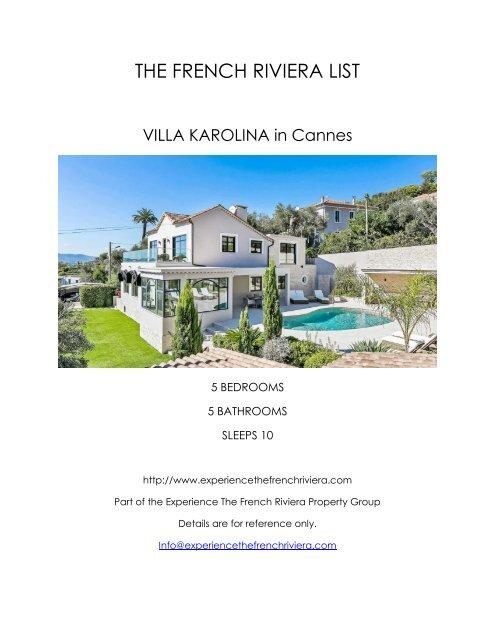 Villa Karolina - Cannes