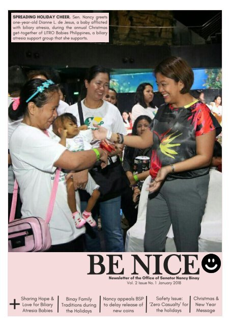 Be Nice☻ Newsletter (January 2018 Issue)