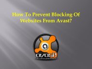 How To Prevent Blocking Of Websites From Avast?
