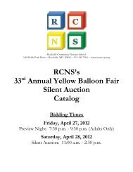 Our 2012 Silent Auction catalog is available for - Rockville ...