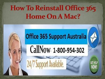 How To Reinstall Office 365 Home On A