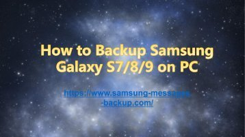 How to Backup Samsung Galaxy S789 on Computer