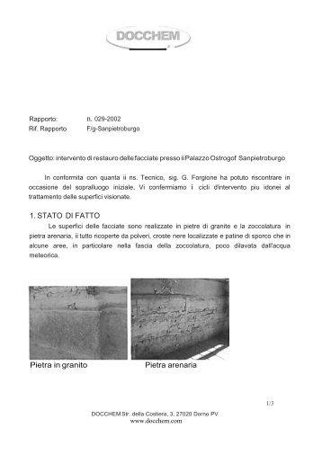Intervento Palazzo Ostrogof итал