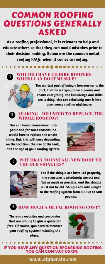 Common Roofing Questions Generally Asked