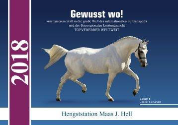 Hengstkatalog der Hengststation Maas J. Hell 2018