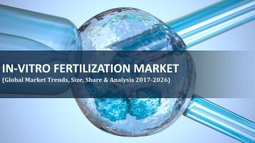 Global In-Vitro Fertilization Market Trends, Share, Revenue, Analysis 2017-2026