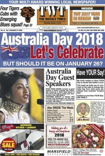 The Weekly Times - 17th January, 2018