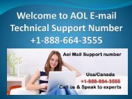 Aol mail Support number +1-888-664-3555