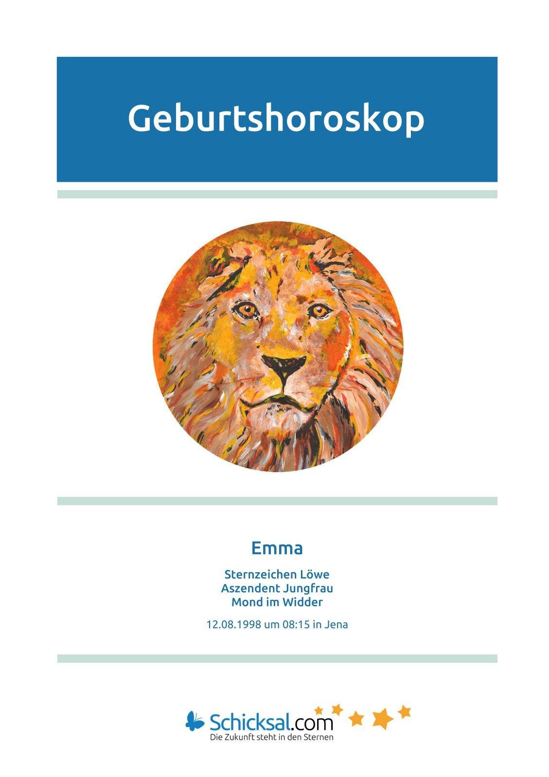 Löwe Geburtshoroskop