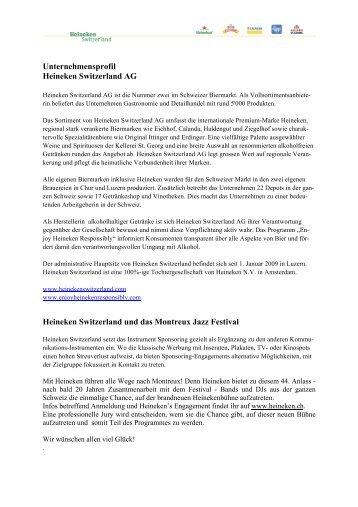 Facts & Figures - Montreux Jazz Festival