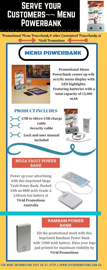 Stylish Way of Promotion - Menu Power Bank