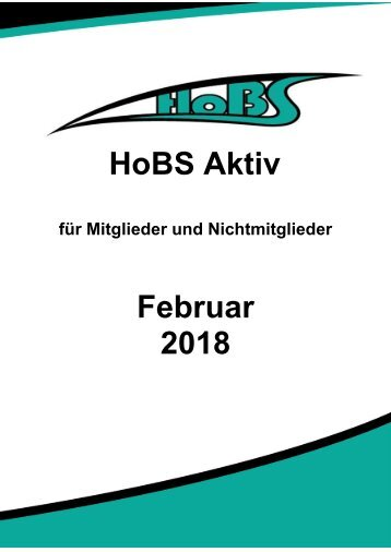 HoBS Programm Feburar 2018