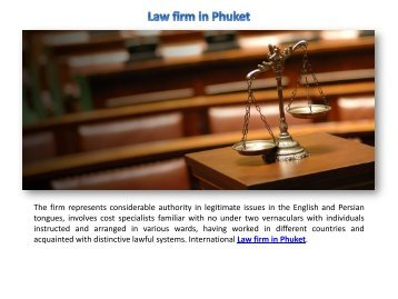 Law firm in Phuket