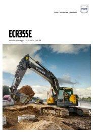 Volvo Kettenbagger ECR355E - Datenblatt / Produktbeschreibung