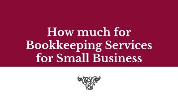 how much for bookkeeping services for small business