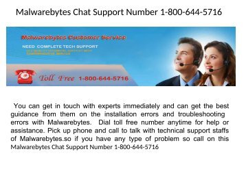 Malwarebytes Customer Support Number 1-800-644-5716