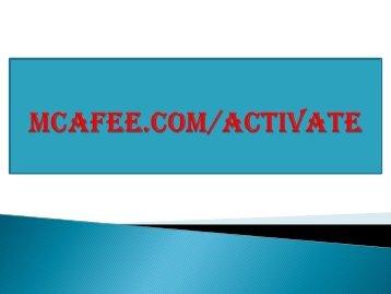 McAfee-com-activate |  McAfee.com/activate