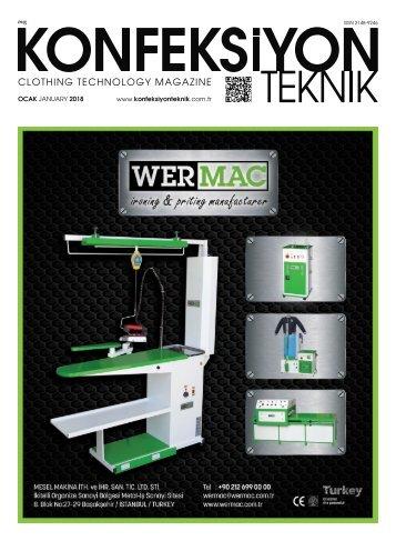 Konfeksiyon Teknik Dergisi Ocak 2018 Sayısı