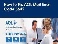 AOL Mail Error Code 554 Call 1-888-909-0535 Support Number