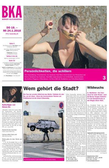 Berner Kulturagenda 2018 N°2