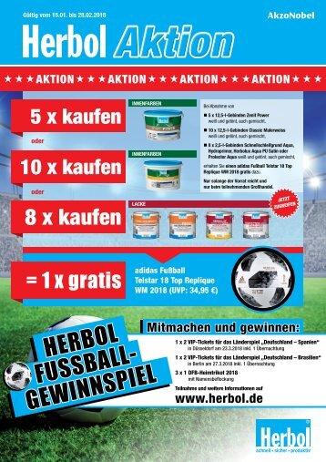 Herbol Fußball Aktion 15.01. - 28.02.18