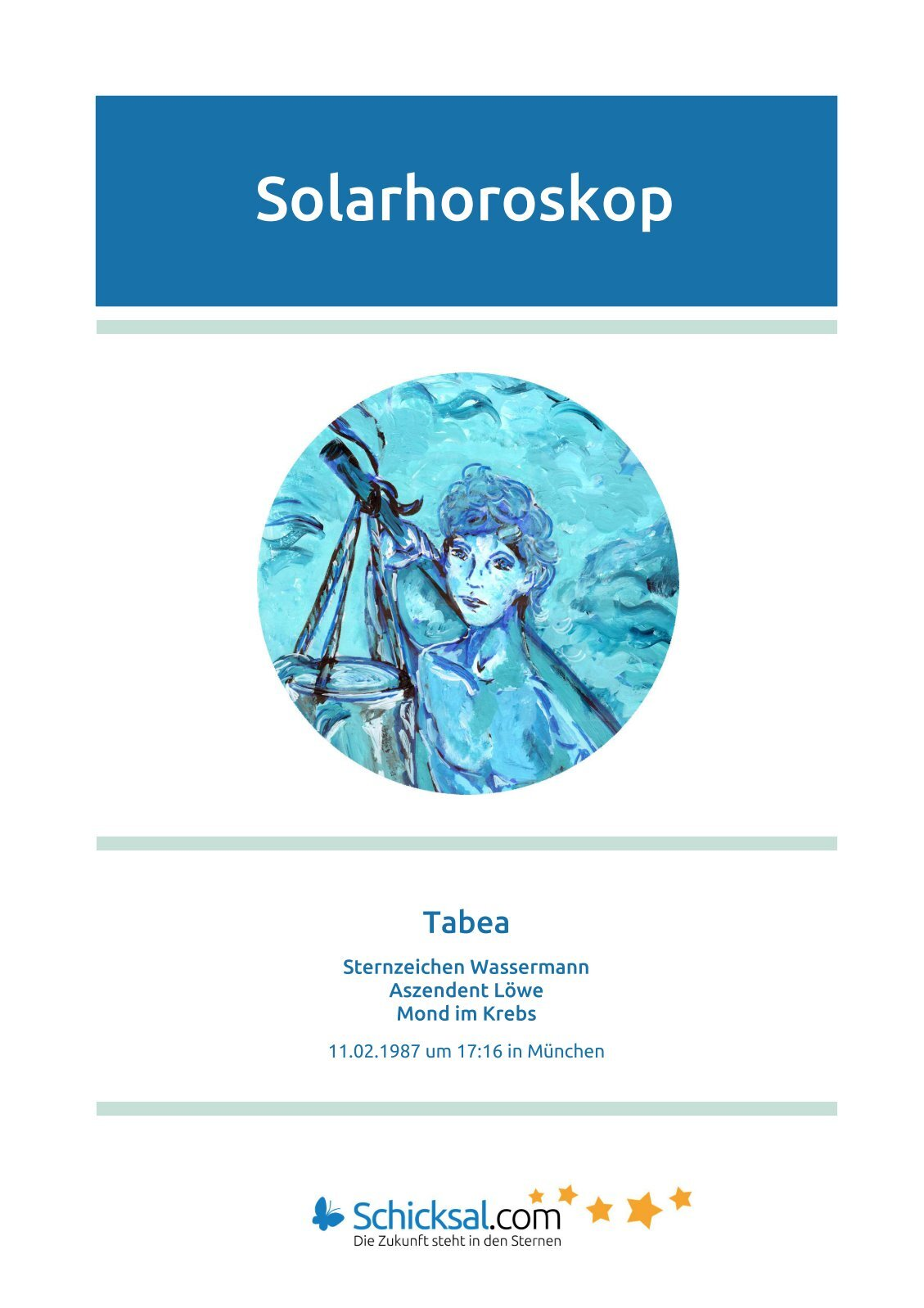 Wassermann Solarhoroskop