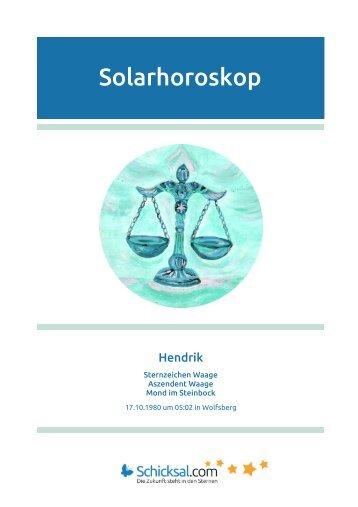 Waage Solarhoroskop