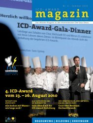 4. ICD-Award vom 23. – 26. August 2010