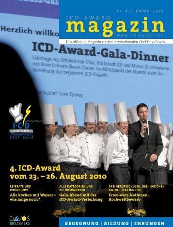 4. ICD-Award vom 23. – 26. August 2010