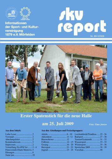 Erster Spatenstich für die neue Halle am 25. Juli ... - SKV Mörfelden