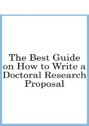 Best Guide on How to Write a Doctoral Research Proposal