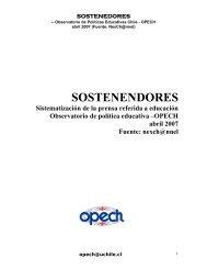 sostENEDoREs - Observatorio Chileno de Políticas Educativas