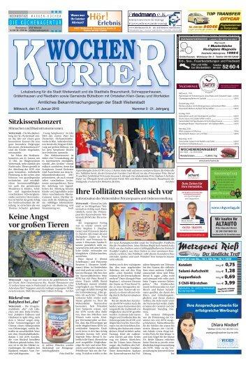 Wochen-Kurier 03/2018 - Lokalzeitung für Weiterstadt und Büttelborn
